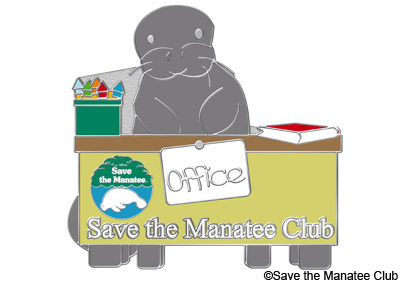 Save the Manatee Club In-Office Pin