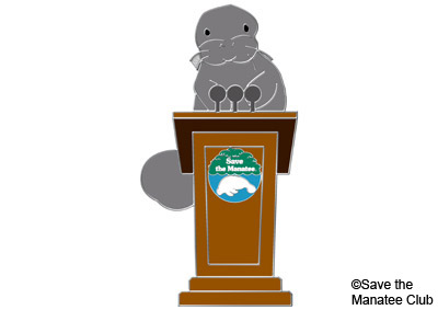 Save the Manatee Club Presentations pin