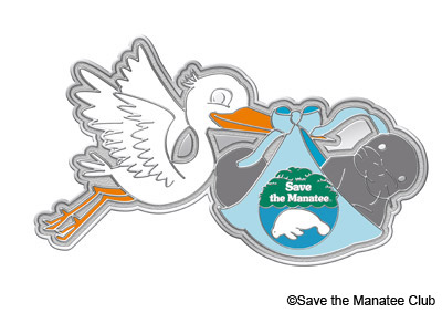 Manatee Adoption Pin